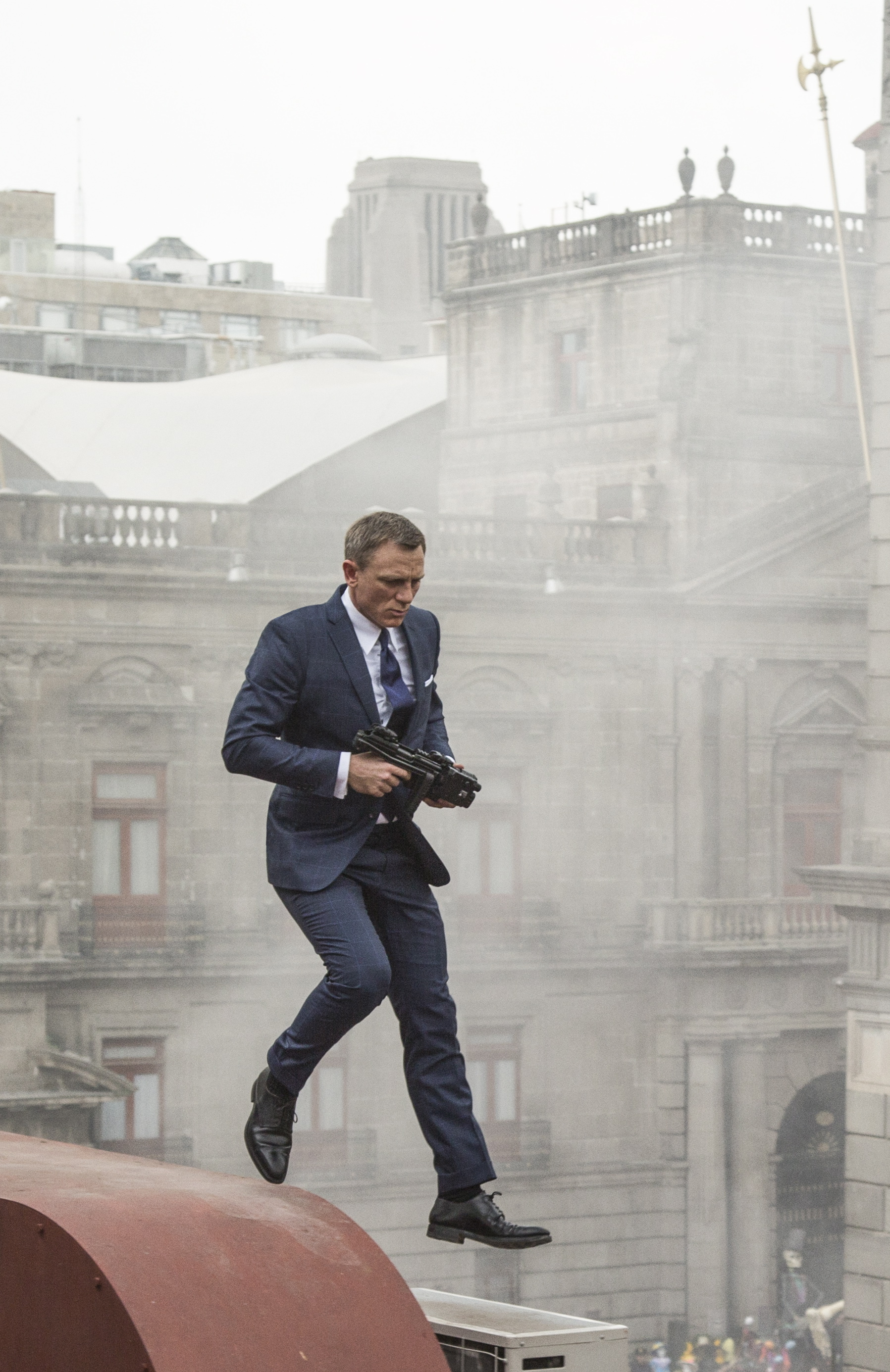 Do blonds have more fun? Daniel Craig proves that a blond Bond can go far if he just keeps walking on air.